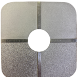 vertailulevy Shot blasting suihkupuhdistettu joko pyöreällä tai särmikkäällä suihkupuhdistusrakeella. ndt tukku pinnoitteen tarkastus vertailulevy pinnankarheus